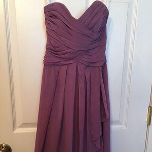David's bridal periwinkle dress